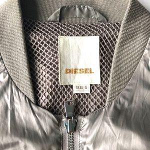 Diesel Womens Nylon Jacket Bomber Coat Light Small